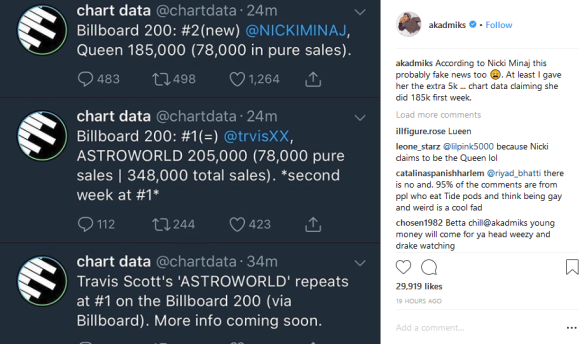 "Screenshot_2018-08-20 DJ Akademiks on Instagram ""According to Nicki Minaj this probably fake news too 😩 At least I gave he[...]"