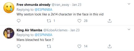 Screenshot_2020-02-05 (4) NBA on ESPN on Twitter Don't jump Collin Sexton on his head 😤 https t co k2dN3XWjqi Twitter